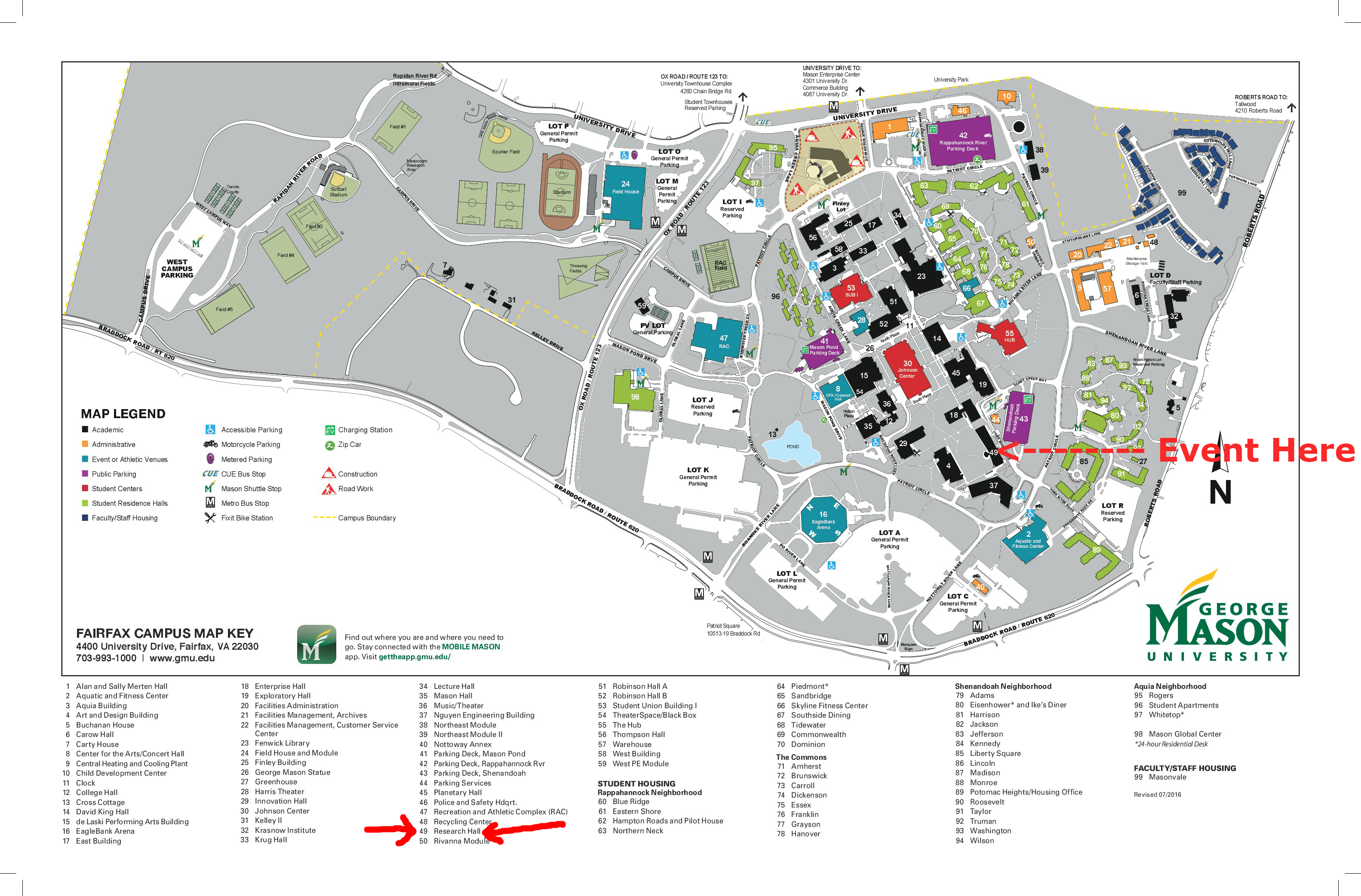 Amazing George Mason University Campus Map 2 Ideas - Printable Map ...