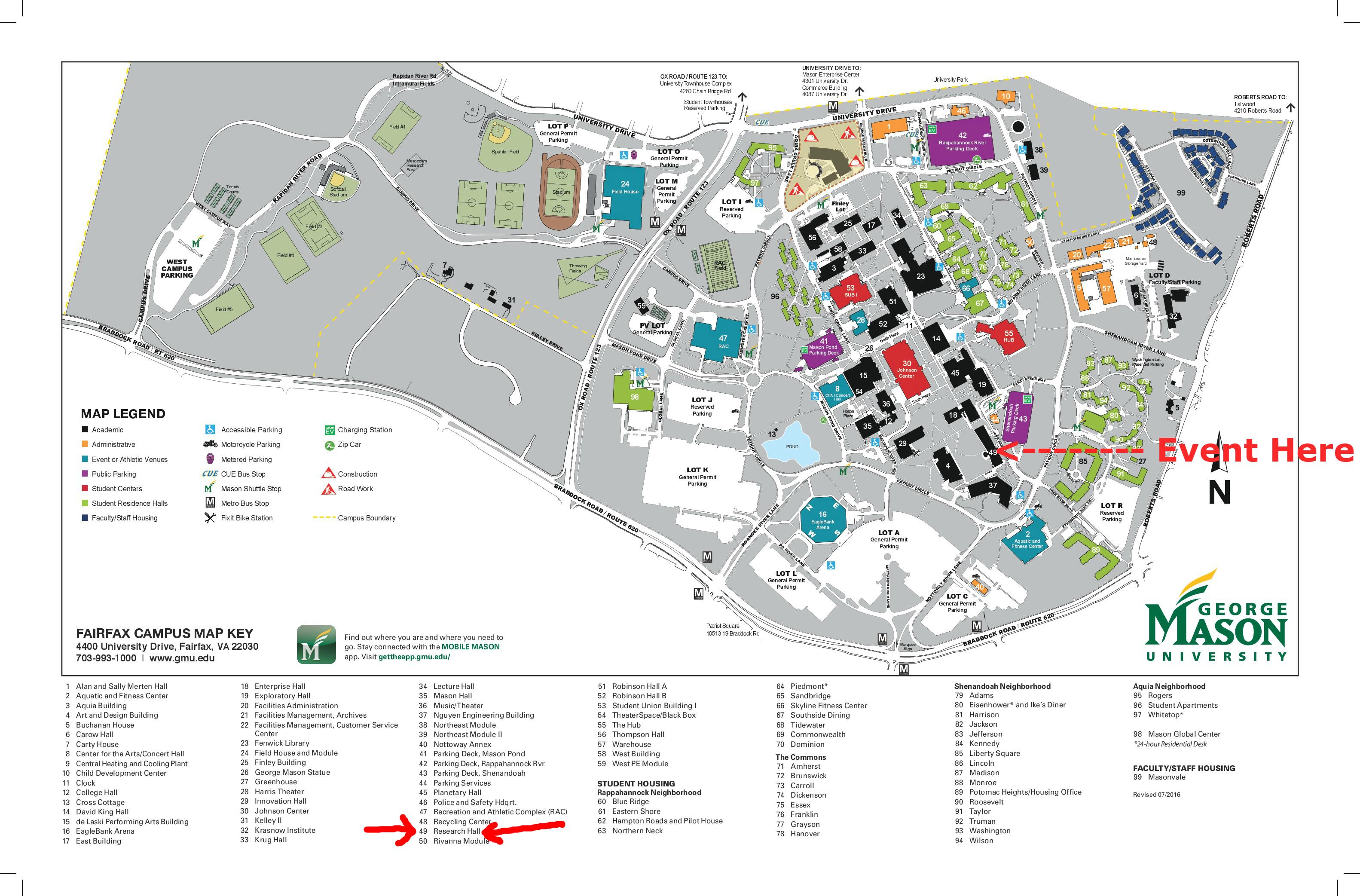 Collection Gmu Fairfax Campus Map Photos, - World Map Database